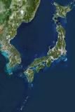 Satellite Image of Korea and Japan Photographic Print