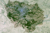 Satellite Image of Ile-De-France Region, France Photographic Print