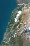 Satellite Image of Lebanon Photographic Print