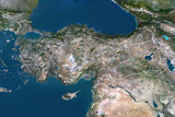 Satellite Image of Turkey Photographic Print
