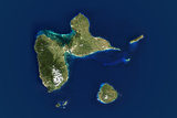 Satellite Image of Guadeloupe Photographic Print