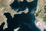 Satellite Image of Aral Sea, Kazakhstan and Uzbekistan, 1973 Photographic Print