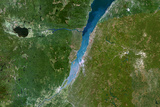 Satellite Image of Saint-Lawrence River, Quebec, Canada Photographic Print