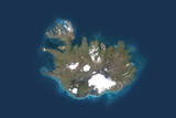 Satellite Image of Iceland Photographic Print