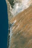 Satellite Image of Nouakchott, Mauritania Fotografisk tryk