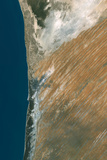 Satellite Image of Nouakchott, Mauritania Photographic Print