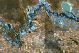 Satellite Image of River Murray, Australia Photographic Print