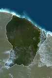 Satellite Image of French Guiana Photographic Print