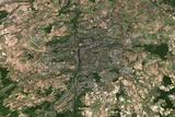 Satellite Image of Prague Photographic Print