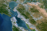 Satellite Image of San Francisco Bay, USA Photographic Print