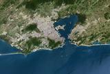 Satellite Image of Rio De Janeiro, Brazil Photographic Print