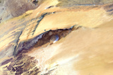 Satellite Image of Richat Structure, Mauritania Fotografisk tryk