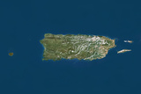 Puerto Rico, True Colour Satellite Image Photographic Print