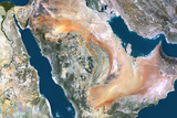 Satellite Image of Saudi Arabia Photographic Print