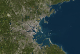 Satellite Image of Boston, Massachusetts, USA Photographic Print