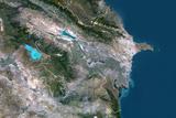 Satellite Image of Azerbaijan Photographic Print
