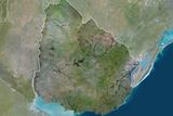 Satellite Image of Uruguay Photographic Print