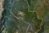 Satellite Image of Paraguay Photographic Print
