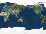 Satellite Image of the Whole Earth Photographic Print