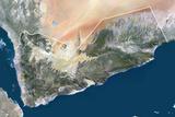 Satellite Image of Yemen Photographic Print