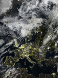 Satellite Image of Europe Photographic Print