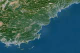 Satellite Image of French Riviera, France Photographic Print