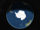 Satellite Image of the South Pole Photographic Print