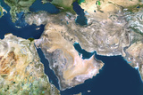 Satellite Image of Middle East Photographic Print