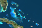 Bahamas, True Colour Satellite Image Photographic Print