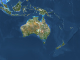Satellite Image of Oceania Photographic Print