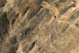 Satellite Image of Aouelloul Meteor Impact Crater, Mauritania Fotografisk tryk