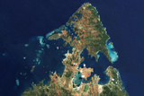 Satellite Image of Diego Suarez (Antsiranana), Madagascar Photographic Print