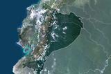 Satellite Image of Ecuador Photographic Print