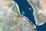 Satellite Image of Eritrea Fotografisk tryk