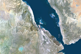 Satellite Image of Eritrea Photographic Print