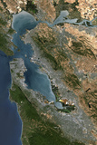 Satellite Image of San Francisco Photographic Print