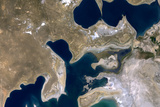 Satellite Image of Aral Sea, Kazakhstan and Uzbekistan, 2000 Photographic Print