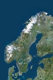 Satellite Image of Norway Photographic Print