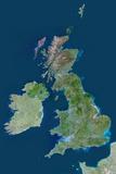 Satellite Image of United Kingdom Photographic Print