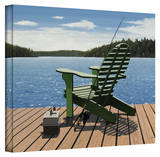 Ken Kirsch 'Fishing Chair' Wrapped Canvas Gallery Wrapped Canvas by Ken Kirsch