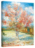 Vincent van Gogh 'Pink Peach Tree' Wrapped Canvas Art Stretched Canvas Print by Vincent van Gogh