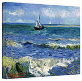 Vincent van Gogh 'Seascape At Saintes Maries' Wrapped Canvas Art Gallery Wrapped Canvas by Vincent van Gogh