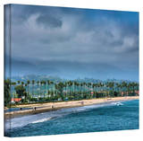 Steve Ainsworth 'The Beach at Santa Barbara' Gallery-Wrapped Canvas Stretched Canvas Print by Steven Ainsworth