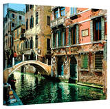 George Zucconi 'Venice Canal ' Wrapped Canvas Stretched Canvas Print by George Zucconi
