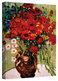 Vincent van Gogh 'Daises and Poppies' Wrapped Canvas Stretched Canvas Print by Vincent van Gogh