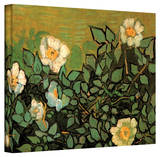 Vincent van Gogh 'Wild Roses' Wrapped Canvas Stretched Canvas Print by Vincent van Gogh