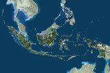 Satellite Image of Indonesia Photographic Print