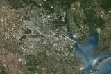 Satellite Image of Houston, Texas, USA Photographic Print