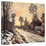 Claude Monet 'Snowy Country Road' 36x48 Gallery Wrapped Canvas Stretched Canvas Print by Claude Monet