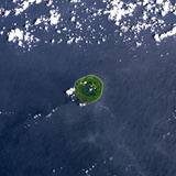 Satellite Image of Niuafo'Ou Volcano, Tonga Islands Photographic Print